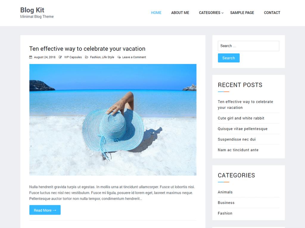 Blog Kit – Minimal WordPress Blog Theme