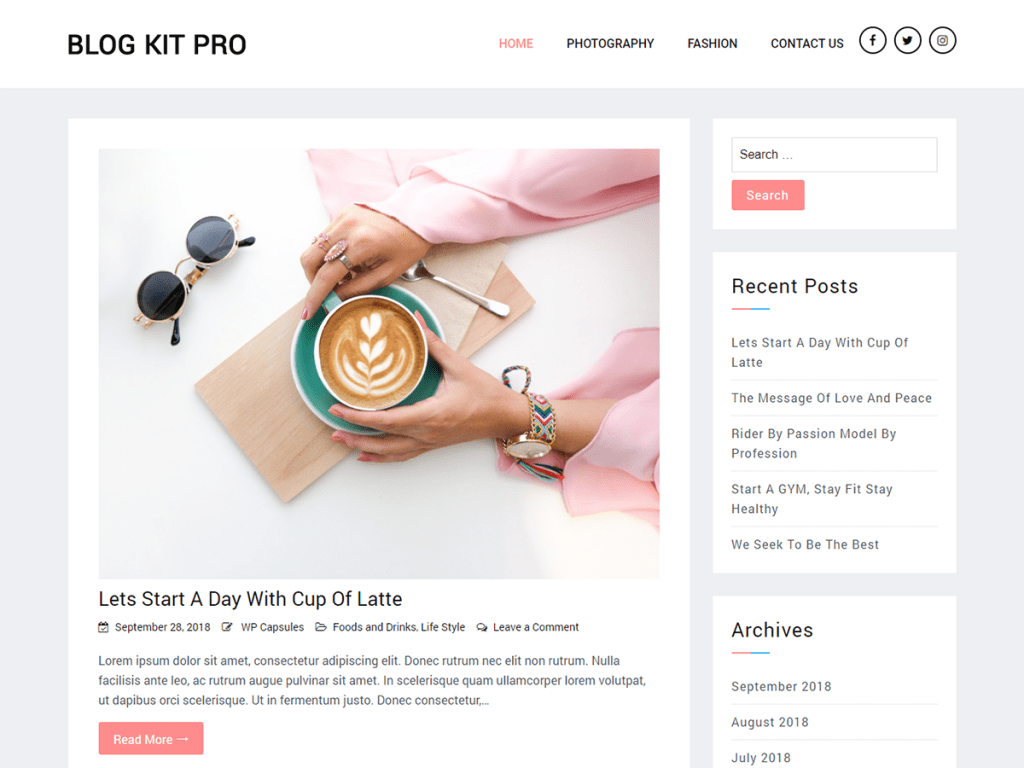 Blog Kit Pro – Minimal Blog Theme