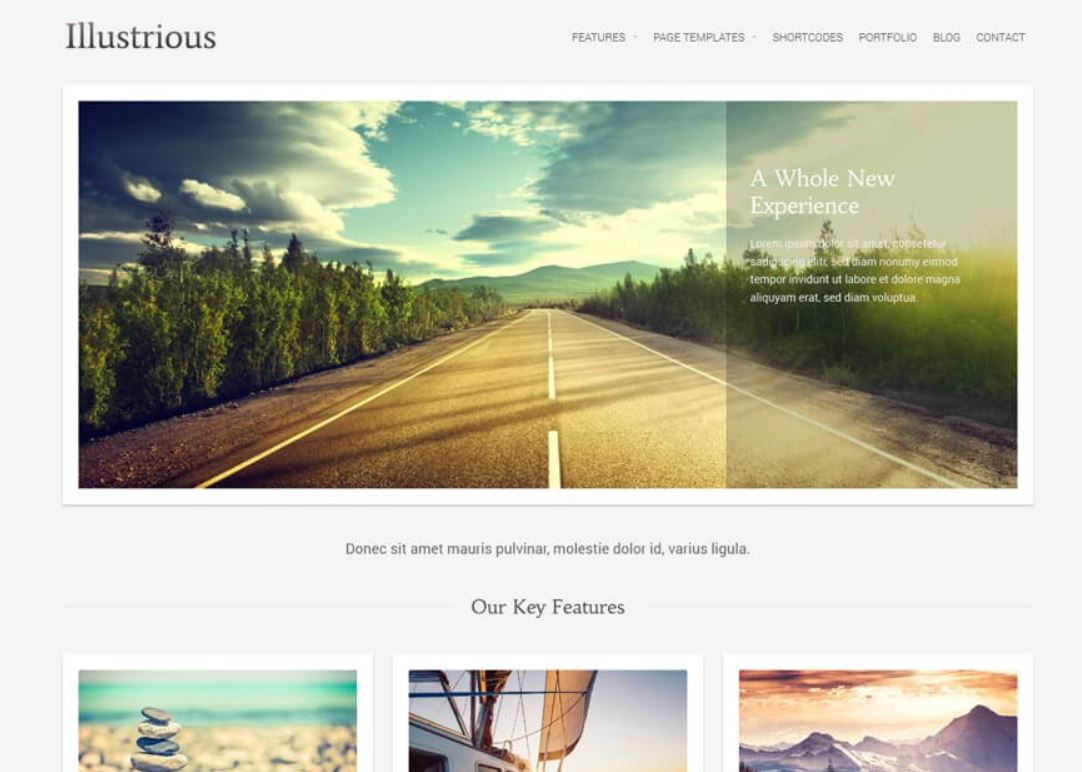 Illustrious - Best free WordPress Business Themes