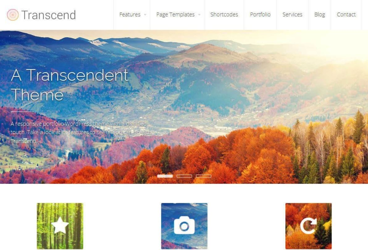 Transcendent - Illustrious - Best free WordPress Business Themes