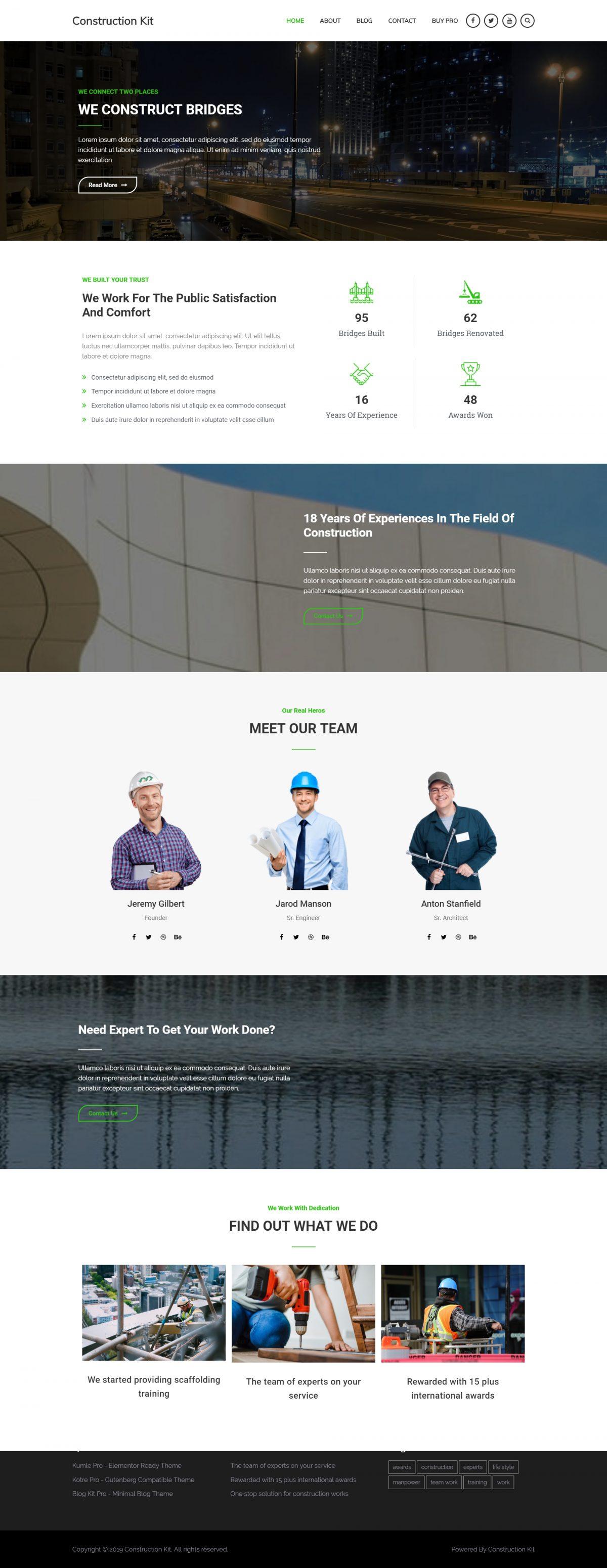 Premium construction theme design