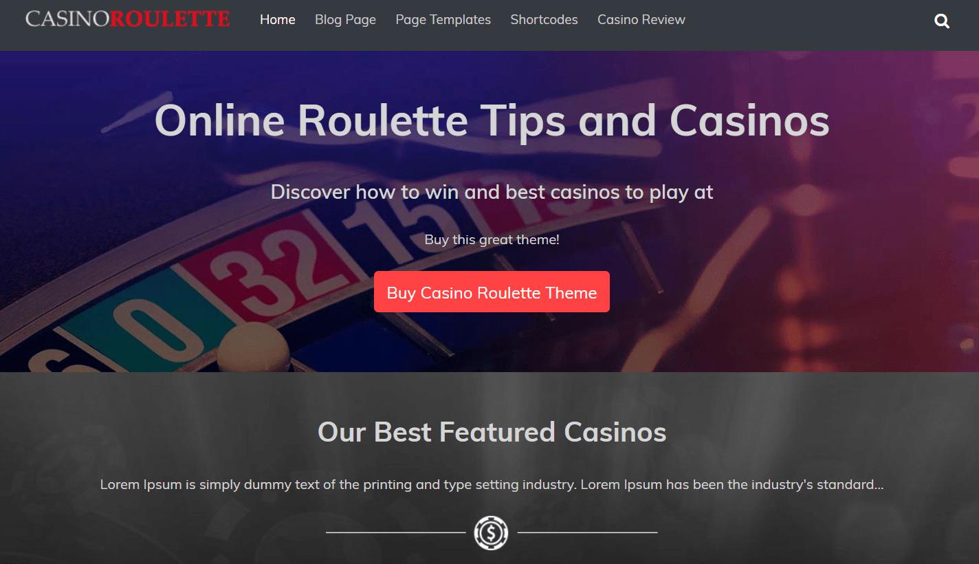 Casino Roulette Theme